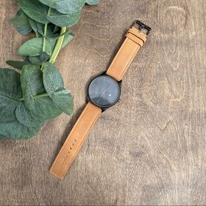 MVMT Classic Black & Tan Leather Watch | 40mm